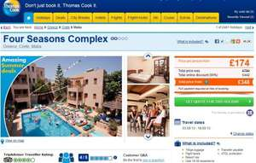 14 Nights Crete, Malia Self Catering from Gatwick £174 inc flights, luggage (03/09 - 18/09) Trip Advisor 4/5 @Thomas Cook