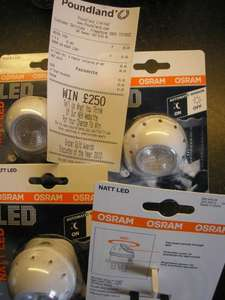 Osram 360 Natt LED night light £1 instore @ PoundLand.