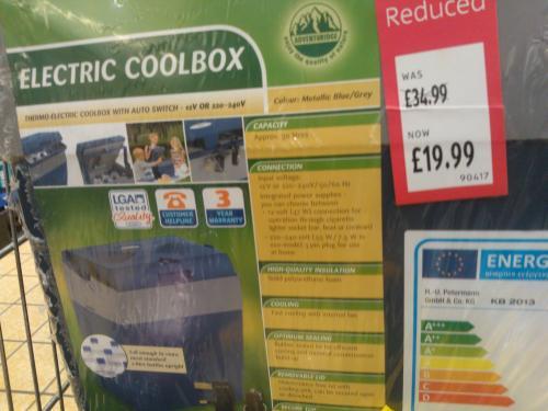 Electric Cool Box. £19.99 @ Aldi