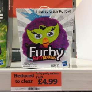 FURBY PARTY ROCKERS UNDER A FIVER - £4.99 AT SAINSBURYS