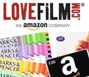 LOVEFiLM 60-Days + FREE £15/£20 voucher for various retailers (FULL LIST)