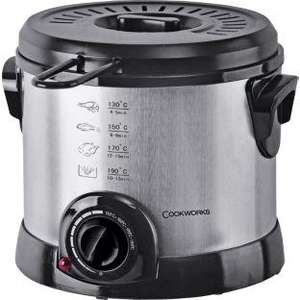 Cookworks Stainless Steel Compact Fryer - Black - £14.99 @ ARGOS