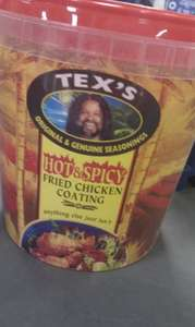 Tex's hot n spicy fried chicken coating 800G for £2.49 @ Tesco