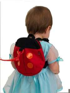 Baby Toddler Safety Harness Reins Backpack LADYBIRD £2.25 delivered Amazon (just4baby)