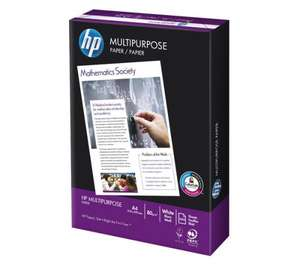 HP A4 Multipurpose Paper 80 gsm (500 Sheets) £3.99 from PC World/Currys + FREE Delivery