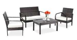 "Asha ""Villa"" Rattan 4 Seater Sofa Set - £194.95 delivered (was £349.95) @ Primrose"