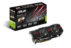 Asus GTX670 NVIDIA DirectCU II Overclocked Graphics Card - 2GB £191.60 @ Scan.co.uk