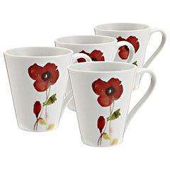 Sainsburys  Poppy Mugs set of 4 reduced from £10 to £3
