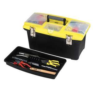 "Stanley Toolbox 19"" with Organiser Lid £ 10.00 @ Asda Direct"