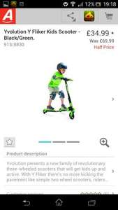 Yvolution y fliker scooter half price in Argos only £34.99 suitable for age 5 to 8