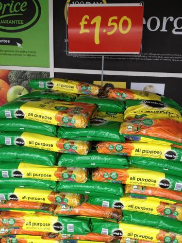 50 litres Miracle Gro All Purpose Compost £1.50 at Asda