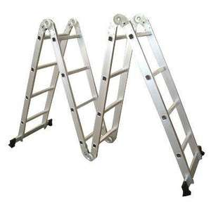 4.7M Multi Purpose Folding Aluminium Ladder with 2 Scaffold Working Plates and 1 Tool Tray  £67.90 delivered @ Amazon.co.uk