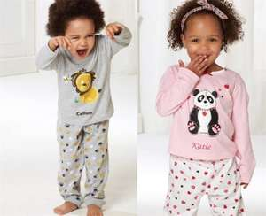 Personalised 100% cotton Kids Pajamas £4.99 - £9.99  LIST BELOW (also 10% off and free delivery using 047) @ studio catalogue