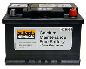 Halfords Calcium Battery HCB065 £20.00