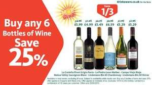 Save 25% off six bottles of wine @ Morrisons