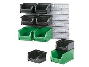 10 Piece Stacking Storage Box Set c/w Wall Bracket £4.99 @ Lidl from 22/8
