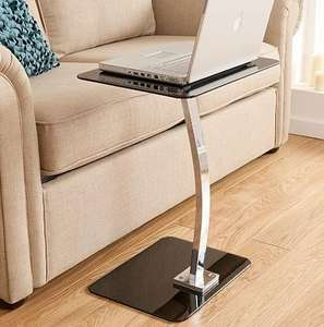 Asda Direct Glass Laptop Table in Black, Red or White £15 delivered to store