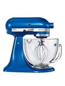 KitchenAid Artisan - Electric Blue Glass Bowl £343.48 @ House of Fraser