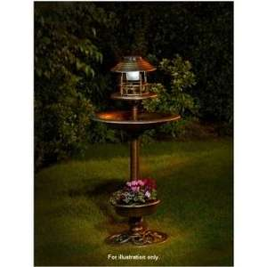 3 In 1 Bird Bath With Planter And Solar Light £1.00 at B&M
