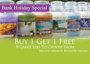 Large jar Yankee Candles, buy one get one free £19.99 @ www.yankee.co.uk £3.95 postage