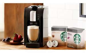 Starbucks Verismo System £99 + ANY 10 Packs of Pods FREE worth £39.90!
