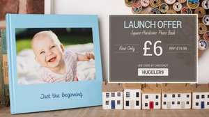 Huggler Square Hardcover Photo Book 21cm x 21cm for £6