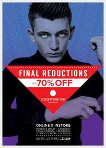 up to 70% off  Xile online & instores (edinburgh)