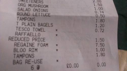 One Month Supply of Regaine Foam (73ml) 75% off Original Price £7.50 @ Tesco (instore)