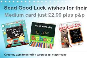 £2.99 off M&S Personalised Greeting card @ £2.99 + £0.60 postage, with FREECARD1 code = £0.60p total @ M&S Personalised