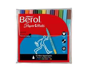 Berol Fine Felt Fibre Tip Pen - 12 Pack £3 @ Asda Direct