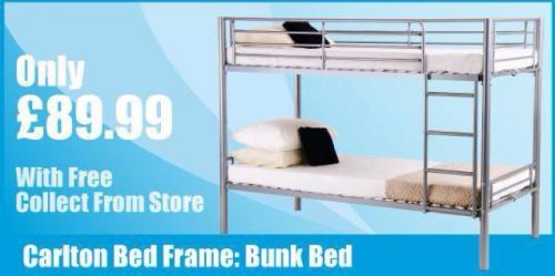 Carlton bed frame: Bunk Bed- £89.99 @ Home Bargains