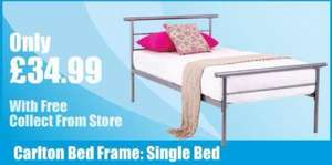 Carlton Bed frame: single bed- £34.99 @ Home Bargains