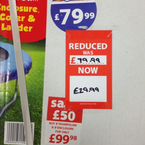 8ft trampoline £29.99 in B&M bargains