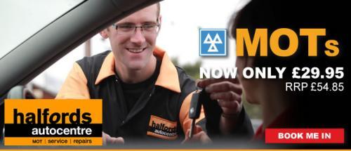 Halfords auto centers MOTS £29.95@Halfords