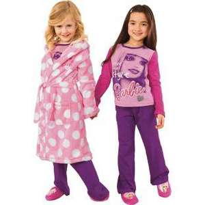 Barbie Girls' Dressing Gown, Pyjama and Slippers £9.99 @ Argos