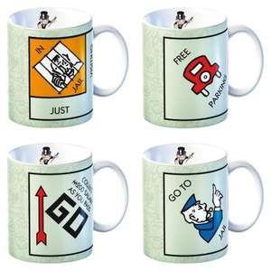 Set of 4 Monopoly Game Novelty Fine China Mugs Hasbro By Creative Tops £4.99 delivered from idealdealshop on eBay