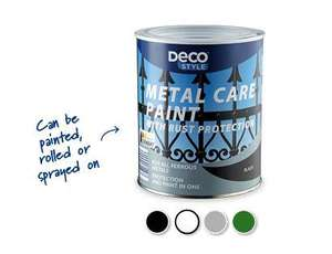 Aldi metal care paint similar to hammerite 1 litre £4.99