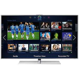"At John Lewis - Samsung UE46F7000 LED 3D Smart TV, 46"", Freeview/Freesat HD, Voice/Motion Control, 2x 3D Glasses with FREE HW-F551 Bluetooth Sound Bar - £1449 @ John Lewis"