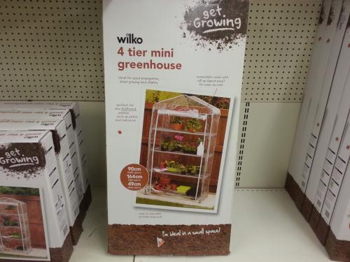Wilko 4 tier mini greenhouse £4