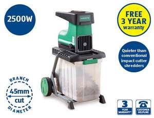 Garden shredder - 2500w - 3 year warranty - £119 instore Aldi from Thurs 5/9/13