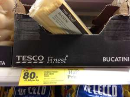 Pasta Bucatini - 80p instore @ Tesco