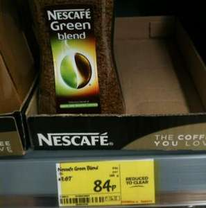100g Nescafé Green Blend coffee 84p @ ASDA