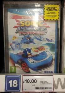 Wii U Sonic All Star Racing £10.00 instore at Tesco