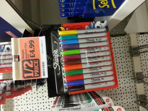 Sharpie 12 Pack £4.99 @ Sainsbury's - Half Price