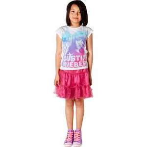 Justin Bieber Girls' White T-Shirt 39p@Argos