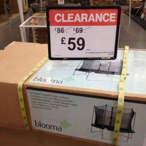 8ft trampoline with enclosure for £59.99 from B&Q