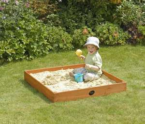 Plum Junior Outdoor Wooden Sand Pit for £7.50 down from £25 @Sainsbury's