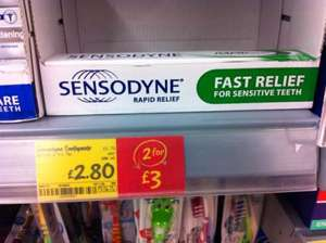 Sendsodyne Rapid Relief Toothpaste 75ml @ Asda 2 for £3.00! (Usually £2.80 each!) UPDATE: Now more in the range... some £3.00 each or 2 for £3.00!