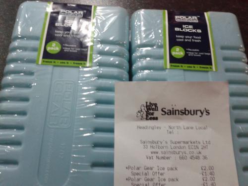 Polar Gear 2 pack of Ice Blocks 60p at Sainsbury's