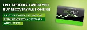 Green Flag Recovery Plus from £60 - £20 after Quidco £40 cashback + free 1 year tastecard worth £79.95